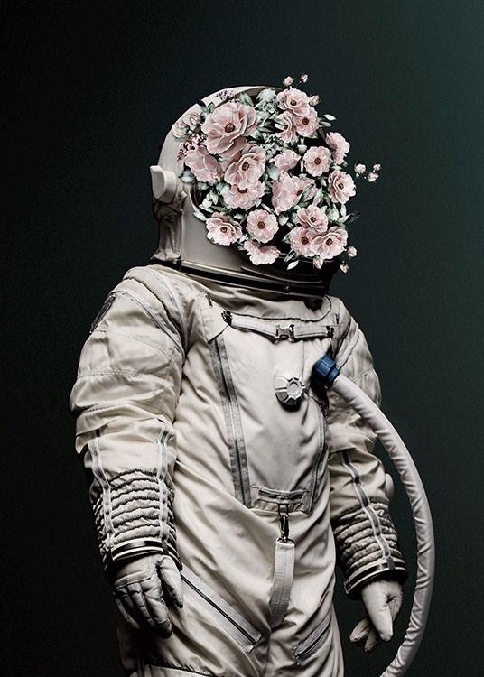 Картинка скафандр с розами