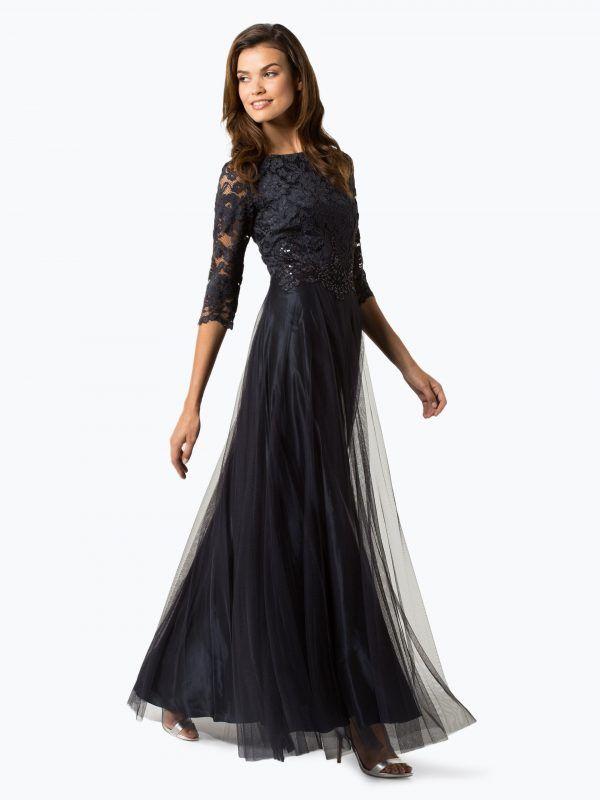 136e70e32b Vera Mont Collection długa suknia wieczorowa granatowa    Długa suknia  wieczorowa  długie suknie wieczorowe. Odwiedź. lutego 2019