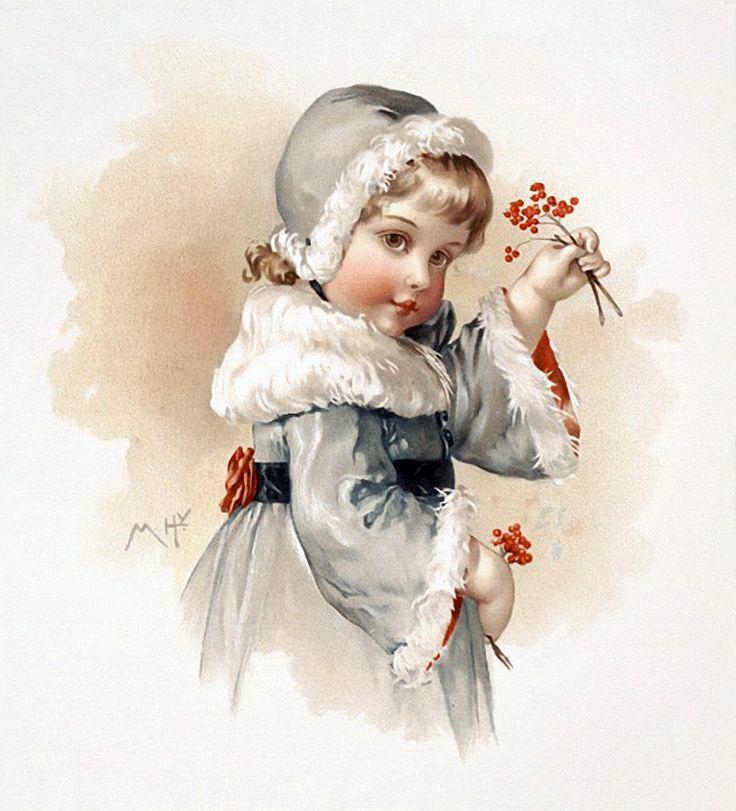 Днем, винтажные детки новогодние открытки