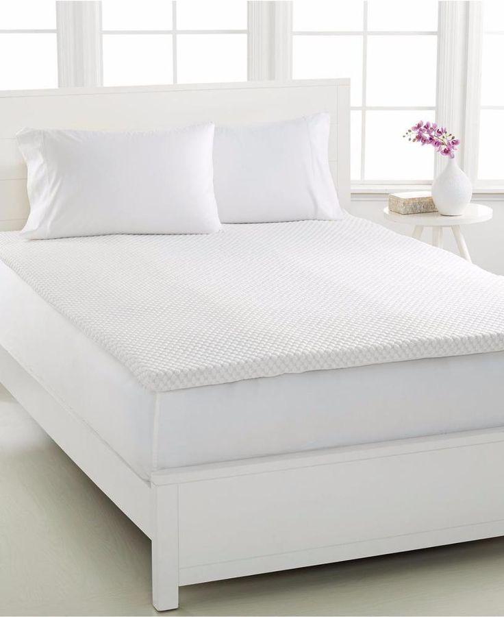 new dream science by martha stewart 2u0027u0027 memory foam queen mattress topper 400