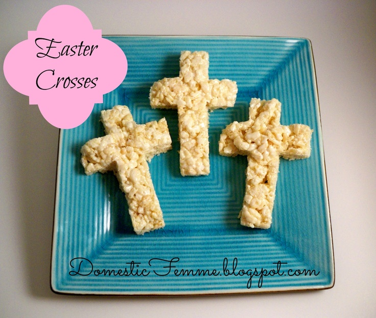 Rice Krispies Easter Crosses #Krispie #Crispie #Crispies #Cookie #Cutter #Cutters #Treats #Cross #Religious #Holiday #Holidays #Christmas #Baptism #Confirmation