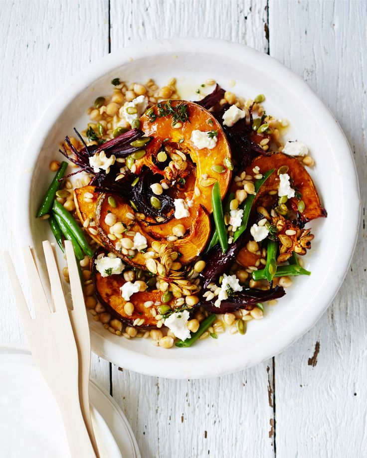 A Protein-Packed Pumpkin Salad That Does Double Duty as a Side Dish