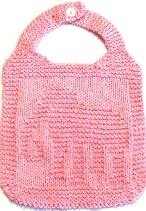 The 12 Best Bib Knitting Patterns Images On Pinterest Baby Bibs