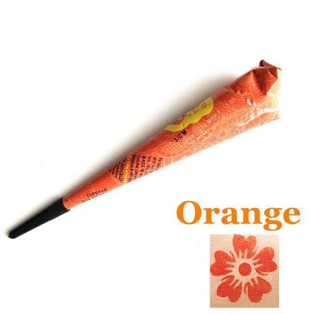 Organic Waterproof Henna Pen & Stencil