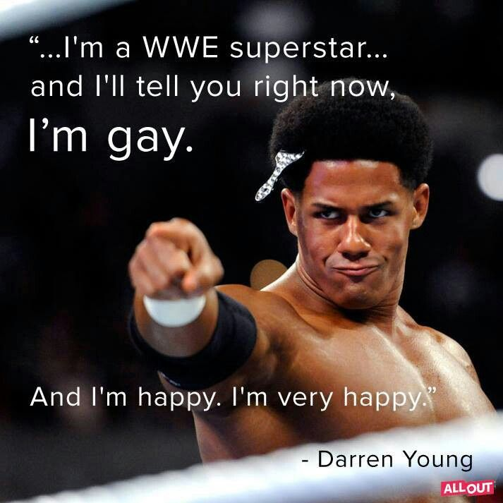 Darren Young takes a very brave step and announces to the world that he is gay. I love that he is happy & that he has friends, family, co-workers, & fans to be his support system. Everyone needs to aspire to just be happy with themselves. #WWE
