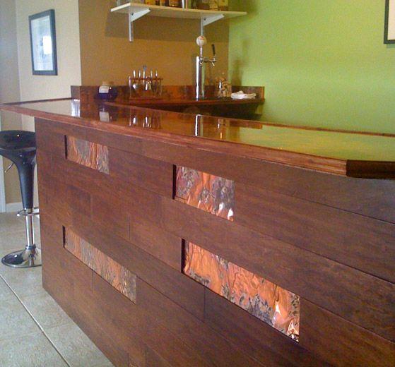 Golden Bamboo Copper Bar Facing