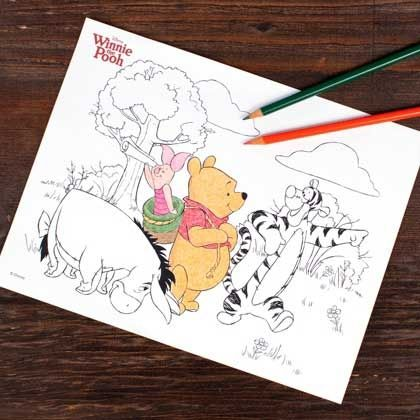 #Free #Printable Winnie the Pooh Coloring Page - via viewsfromtheville.com #Disney