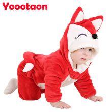 Hoge kwaliteit mooie babykleertjes Een-Stukken voor pasgeboren Cartoon Dier Jumpsuit Meisje Rompertjes Flanel Jongen kleren kostuum(China (Mainland))