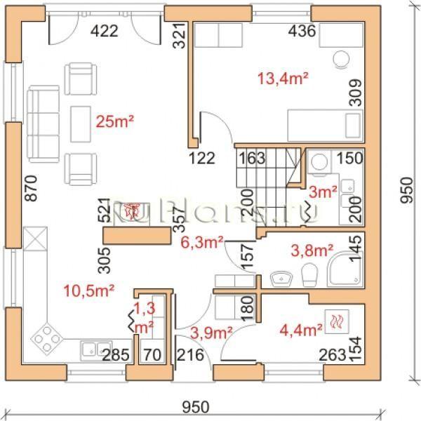 <p><strong>Проект одноэтажного дома</strong> на 119 м2 — вариант достаточного удобного, комфортного а также недорогого и доступного жилья для Вашей семьи. Компактный и экономичный загородный дом, построенный по этому проекту, впишется даже на небольшой участок земли. Планировка помещений <em>проекта одноэтажного дома</em> удобна и рациональна.</p> <p>Количество жилых комнат в данном проекте – 6. Проект имеет удобную и рациональную внутреннюю планировку.</p> <p><strong>Мансардный…