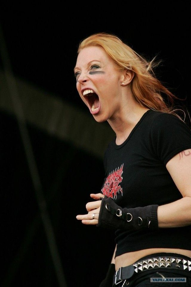 Angela Gossow, vocalist for melodic death  metal band Arch Enemy