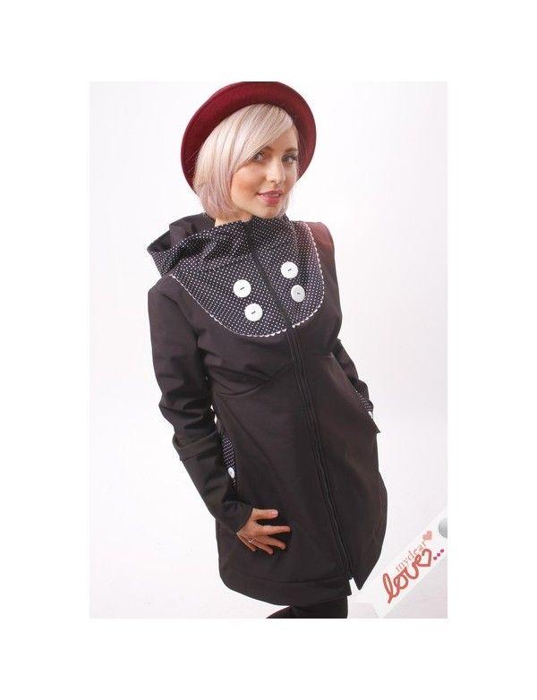 Černá dámská softshellová originální bunda Emilia