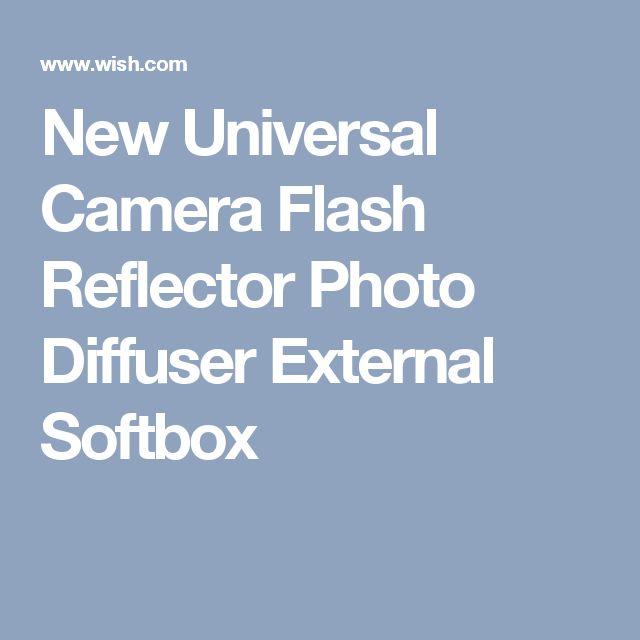 New Universal Camera Flash Reflector Photo Diffuser External Softbox