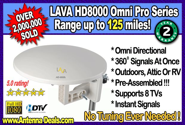 Lava HD8000 OmniPro Omni-Directional   Outdoor HDTV Antenna    Lava HD8000