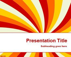 Free Colour PowerPoint Template for Presentations