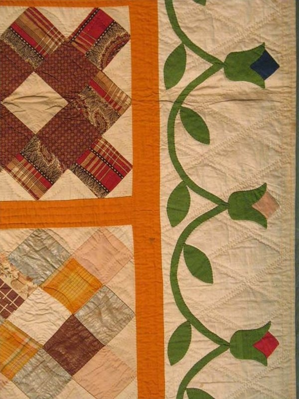 Chimney Sweep detail, 1860. Laura Fisher Quilts.  Love the little wreath....and the quilting.