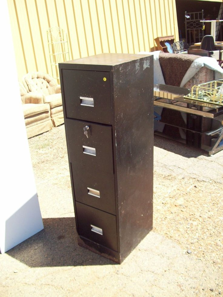 4 drawer file cabinet, locking 18881