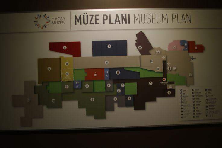 Hatay Archeology Museum - Museum Plan