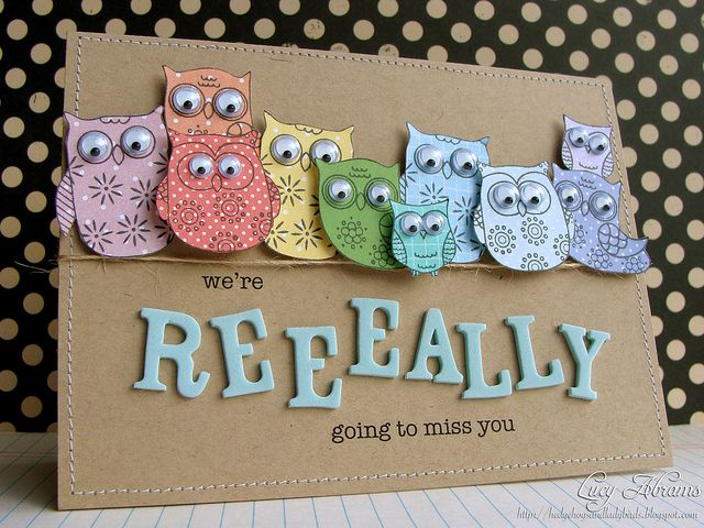 I love these little owls and this card is adorable!  Couldn't find the digi images she used though.  NF