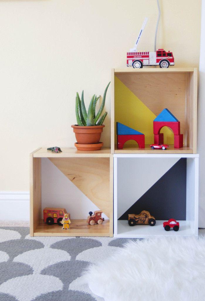 IKEA toy storage hacks - toy box crate storage