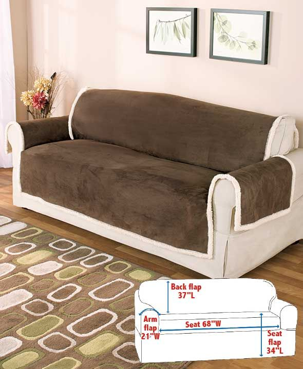 Microsuede Sherpa Furniture Covers CoversSofa