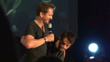 """but the fact that Misha can lift Sebastian almost effortlessly..."" ""I think a lot of people forget that the ""scrawny"" ""baby in a trench coat"" is a 6 foot tall marathon runner and master carpenter"""