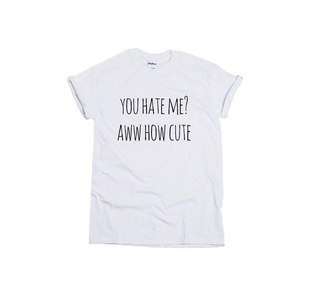 Koszulka Hate Me Cute - FUNFORUS - Koszulki z nadrukiem