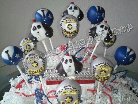 Police Cake Pops  Police Birthday Party  by TheMaDCakePopShop, $48.00