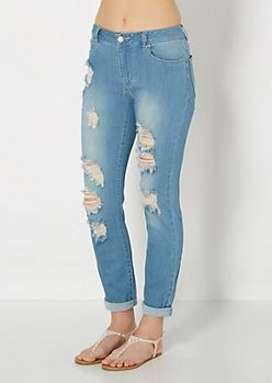 Rolled Cuff Denim Capri By Wild Blue x Sadie Robertson™