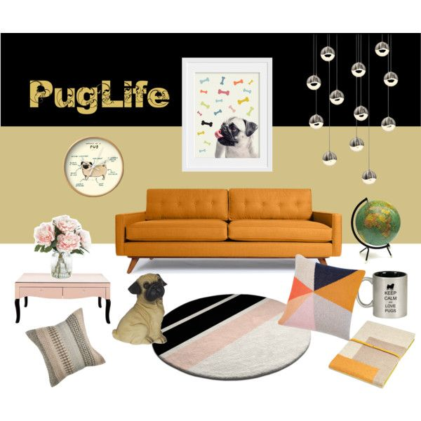 Pug Life by inogitnadesigns on Polyvore featuring interior, interiors, interior design, home, home decor, interior decorating, Thrive, Sonneman, Oyuna and Home Decorators Collection