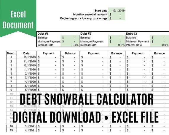 Debt Payoff Calculator Spreadsheet Debt Snowball Excel Student Loan And Credit Card Debt Tracker Loan Re Debt Snowball Credit Card Debt Tracker Debt Tracker