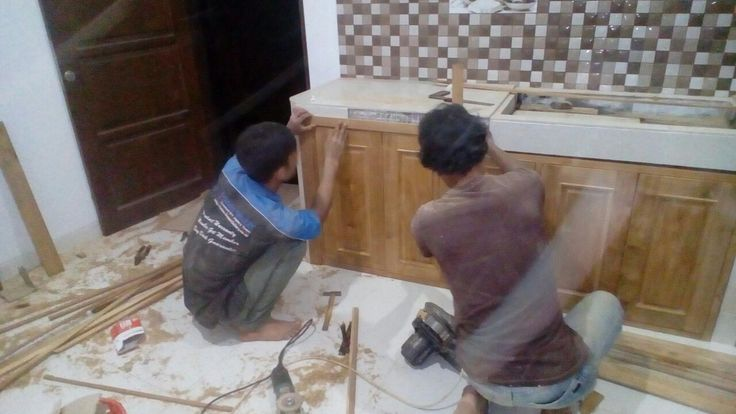 Proses Pemasangan Kitchen Set