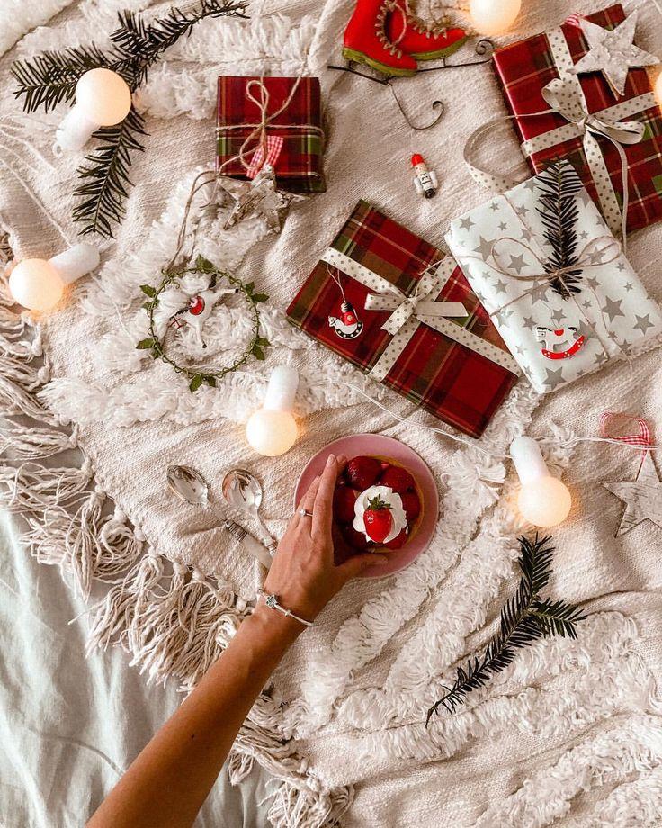 Christmas wrapping presents festive mood inspo