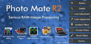 Photo Mate R2 v3.8  Lunes 5 de Octubre 2015.By : Yomar Gonzalez ( Androidfast )   Photo Mate R2 v3.8 Requisitos: 4.0  Descripción: Photo Mate R2 es una prima-desarrollador completa organizador de imágenes y editor. Proporciona las mayoría de las características de edición profesional para cada fotógrafo. Apoya a tamaño completo decodificación prima de casi todos los formato RAW de cámara (Canon CR2 NEF de Nikon Sony ARW Pentax PEF Samsung Fase uno y muchos más). Editar imágenes en alta…