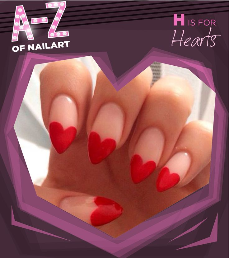 H is for Hearts. #A-ZNailArt