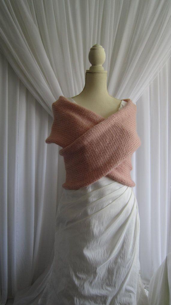 Sweater Vest  Blush Knit Criss Cross Sweater by RocheleauDesigns