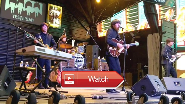 BEATLES COVER LAS VEGAS DIZZY MISS LIZZY  Shoot This cover band specializes in Beatles music Shot live in Las Vegas in 1 this street concert drew a crowd Liv