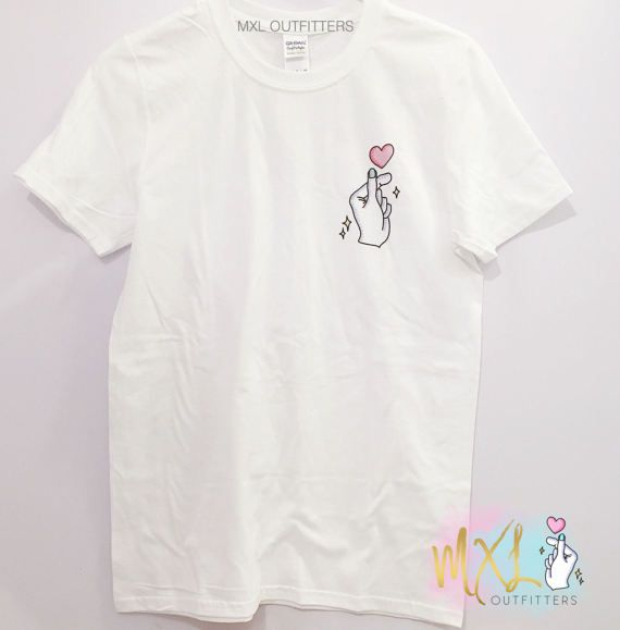 MXL Outfitters kpop finger heart logo T-Shirt