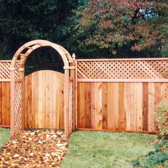 Privacy fence gates with arbor google search backyard for Fence with arbor