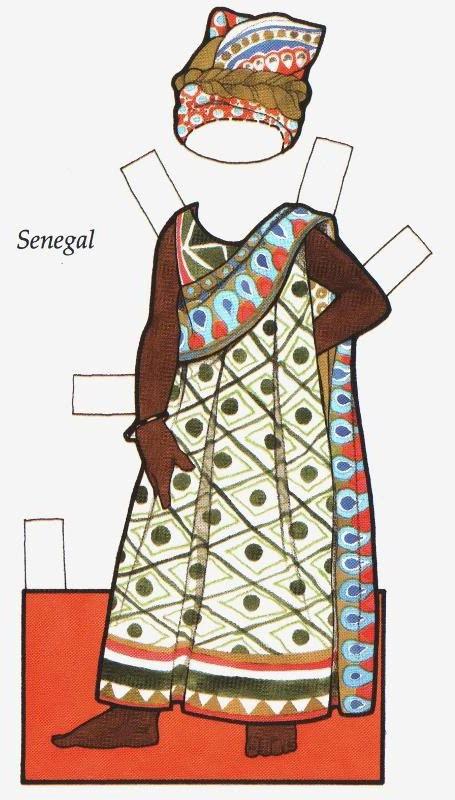 Little African Girl. Šaty pro africkou dívku ze Senegalu