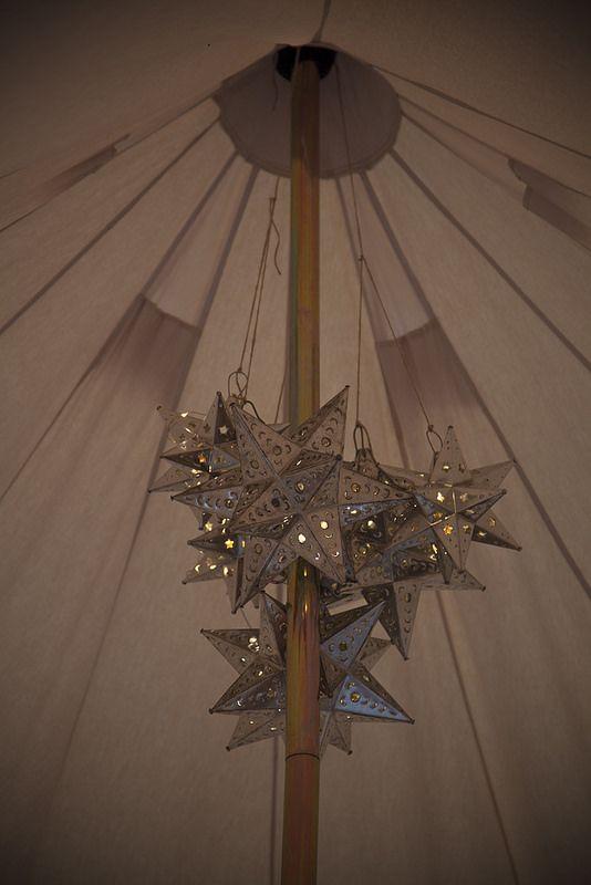 Mexican Star Lights Chandelier Bell Tent Interiors
