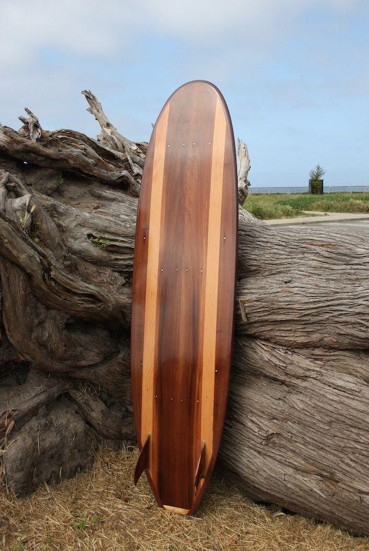 Natural Wood Surfboard