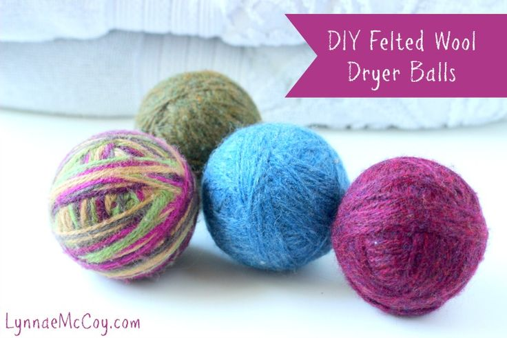 How to Make Your Own Felted Wool Dryer Balls