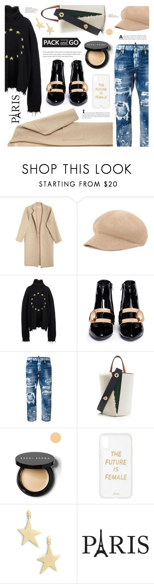 """""""Pack and Go: Paris Fashion Week"""" by ames-ym ❤ liked on Polyvore featuring Mara Hoffman, Vetements, Stella Luna, Dsquared2, Bobbi Brown Cosmetics, Sonix and Rebecca Minkoff"""