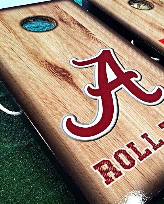 Officially Licensed University of Alabama Cornhole Board Sets on Etsy, $215.00