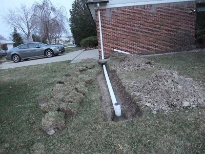 How To Install A Roof Drain, Trench, Gutter Downspout