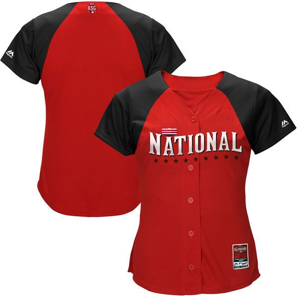 Majestic Women's National League 2015 MLB All-Star Game Batting Practice Cool Base Jersey - Red - $58.99