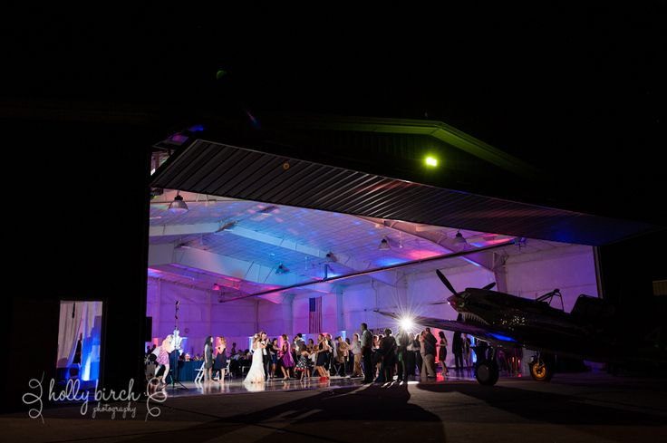 Airplane Hanger with a lot of uplighting!