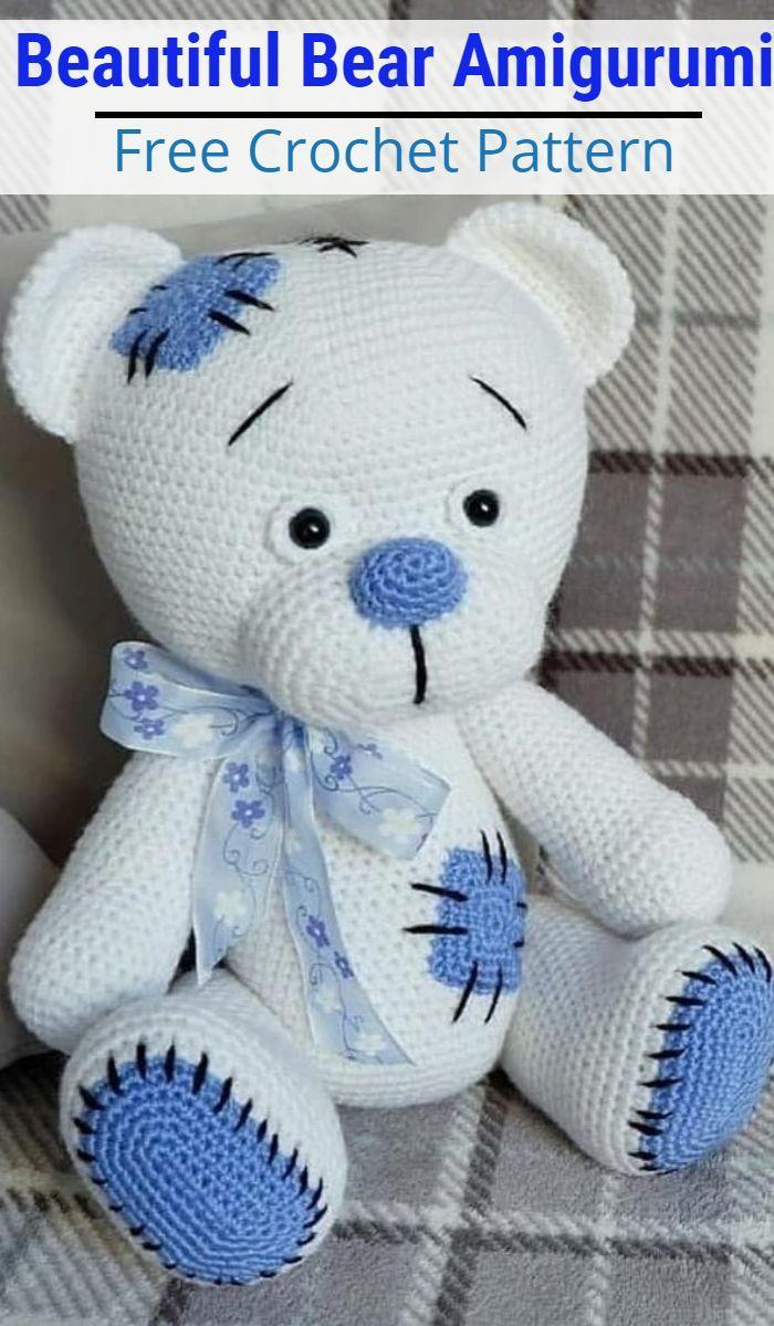 Free Crochet Teddy Bear Pattern - Lucy Kate Crochet | 1200x700