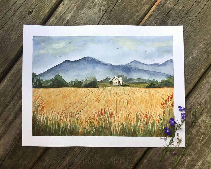 A personal favorite from my Etsy shop https://www.etsy.com/listing/537035939/summers-end-in-the-south-field-original