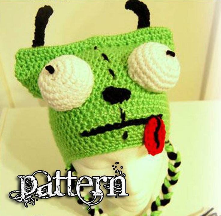 Crochet Invader Zim Patterns : GIR - Invader Zim Crochet Hat Pattern INVADER ZIM Pinterest